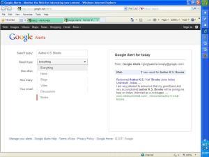 Google Alert Screen 2