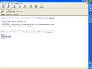 Actual Google Alert Email