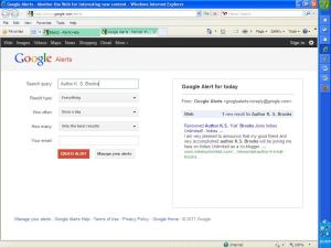 Google Alert Screen
