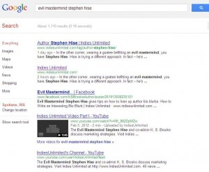 Google Search for Evil Mastermind