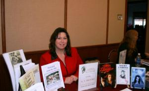 Author K S Brooks at the Library Fundraiser