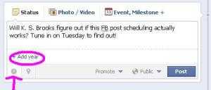 Schedule a Facebook post