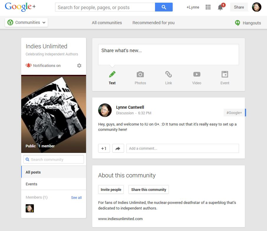 G+6 Google Plus Communities