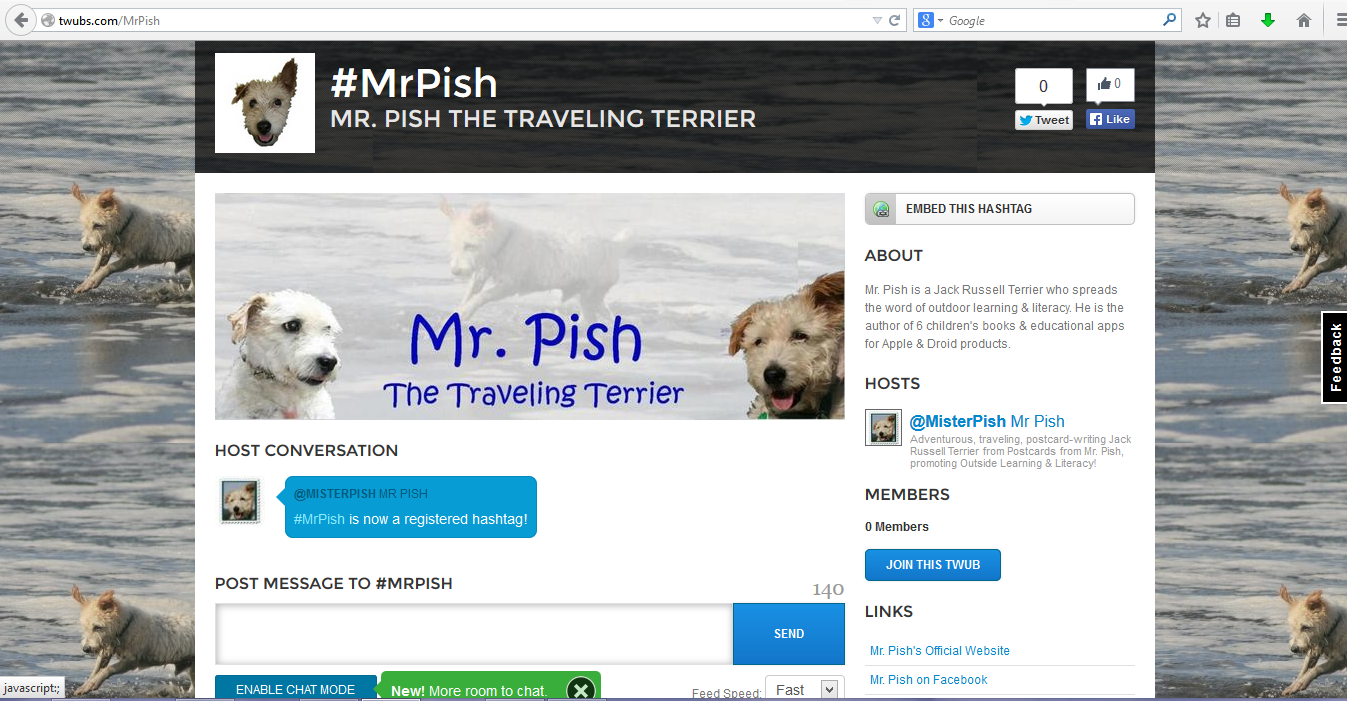 twubs mr pish page
