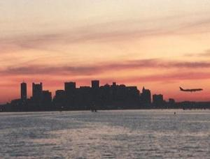 boston harbor sunset copyright ksbrooks 1997