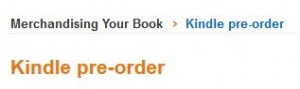 kindle preorder