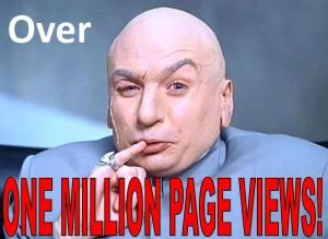 one million page views