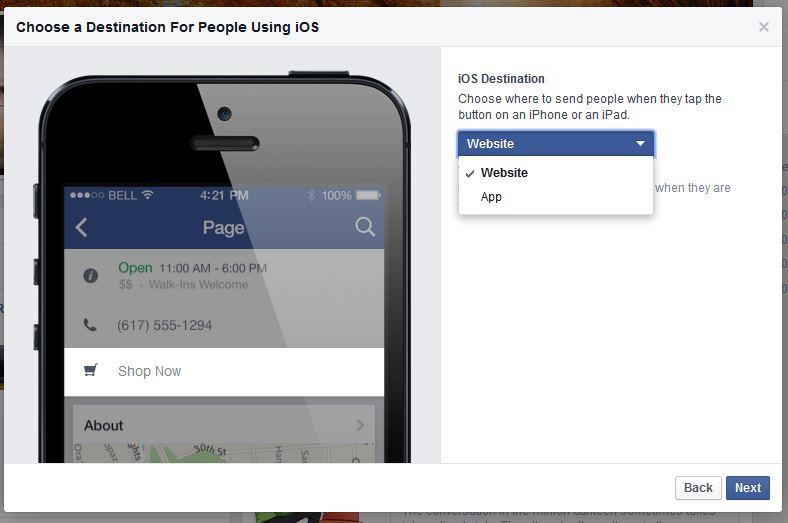 Tutorial for Facebook Call to Action button 3