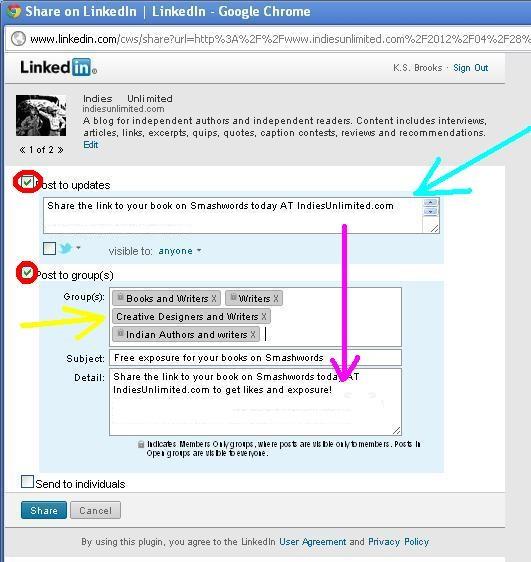 sharing on linkedin