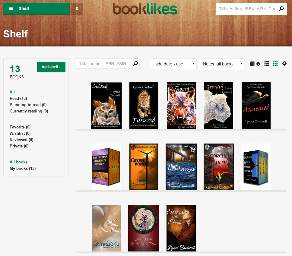 BookLikes Bookshelf
