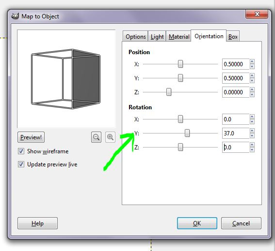 GIMP 7 orientation tab