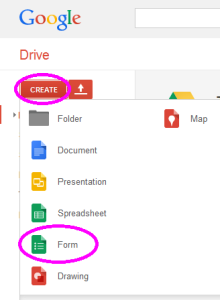 GoogleDrive create form