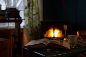 Print Book Fireplace Perfection