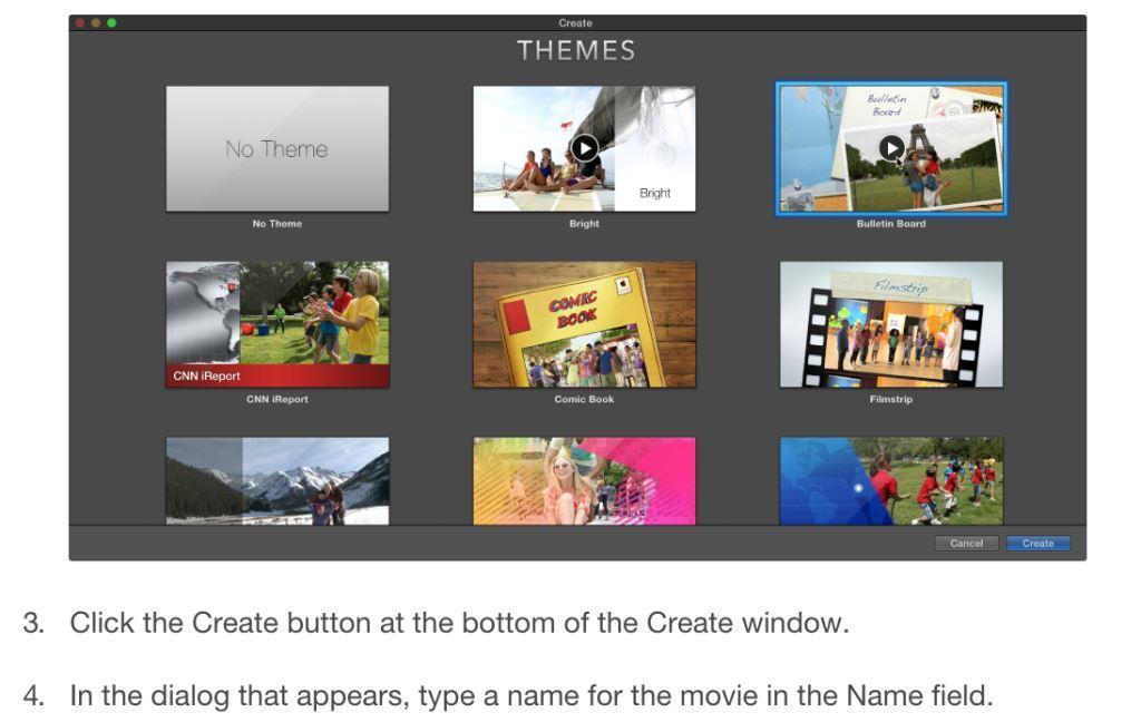 3 imovie themes
