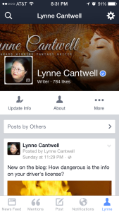 verified facebook page