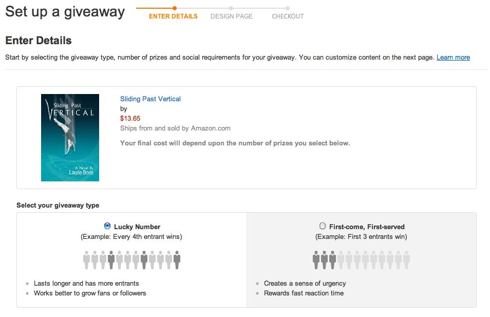 Amazon set up a giveaway