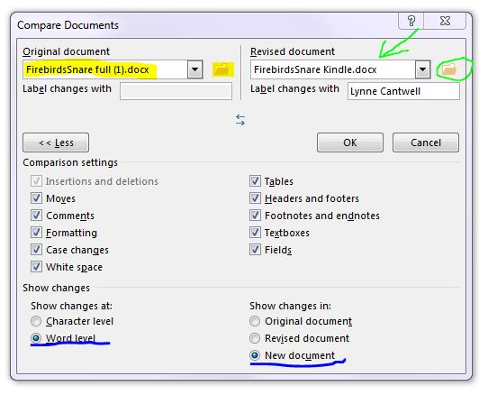 tutorial for MS Word Compare 2