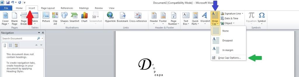 drop cap Image 1