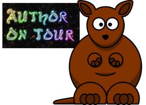 author kangaroo hopping on a blog tour
