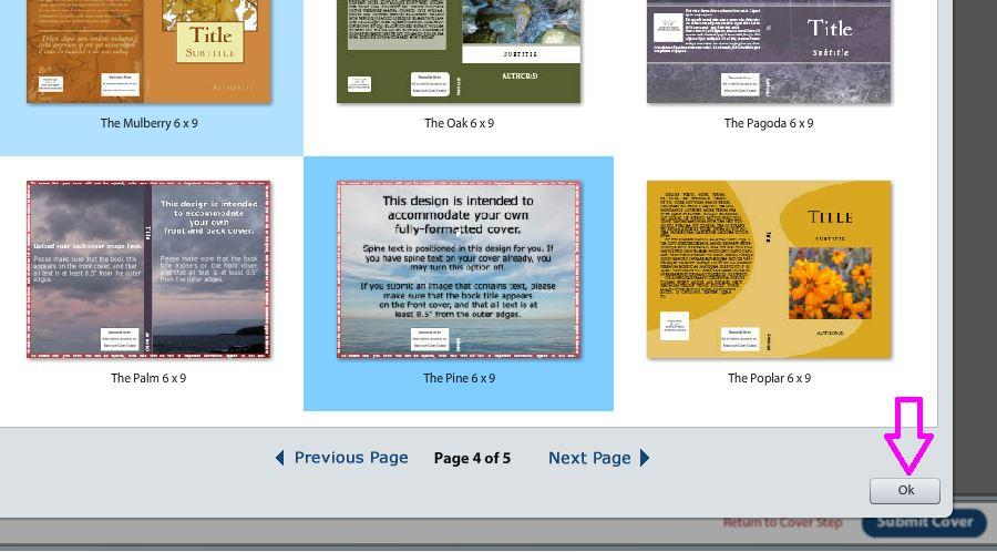 5 createspace select pine click ok COM