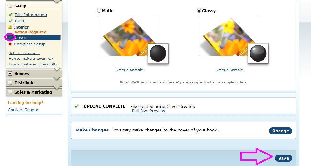 b15 cover check mark click save COM
