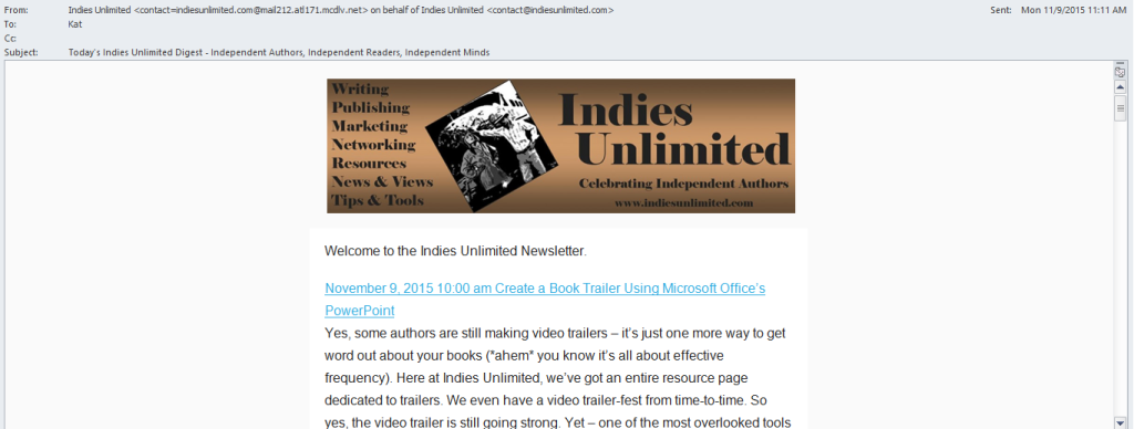 mailchimp IU newsletter template