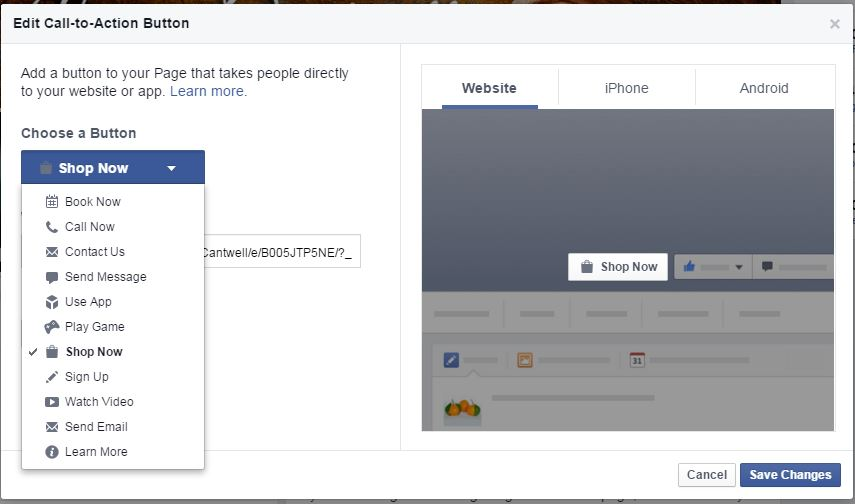 edit call to action buttons facebook