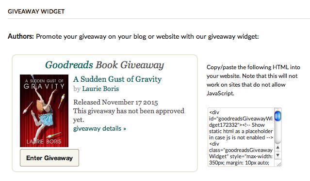 Goodreads Book Giveaway ScreenShot4