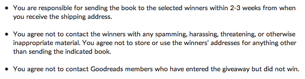 Goodreads terms and conditions ScreenShot5