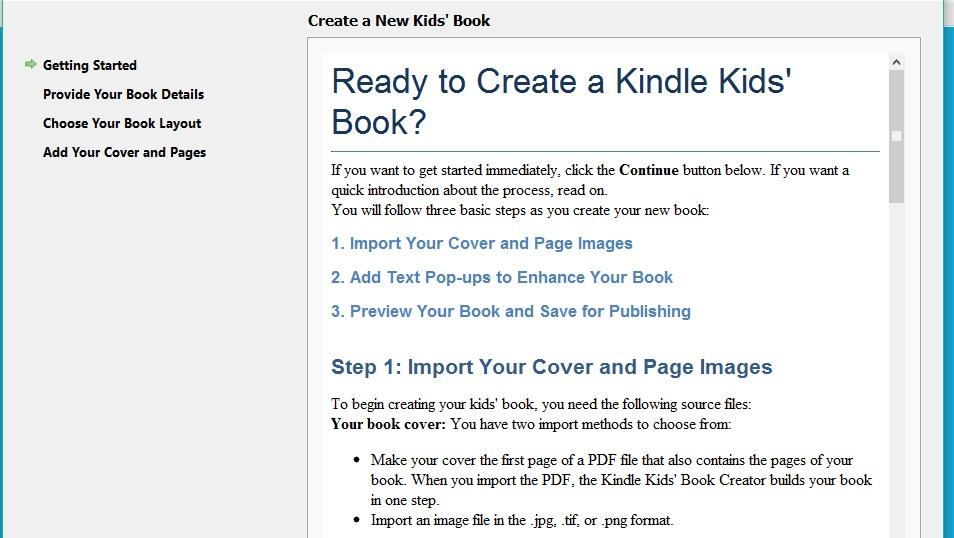 Kindle Kids' Book Creator create a kids book