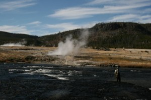flash fiction writing prompt fishing the firehole river 102108
