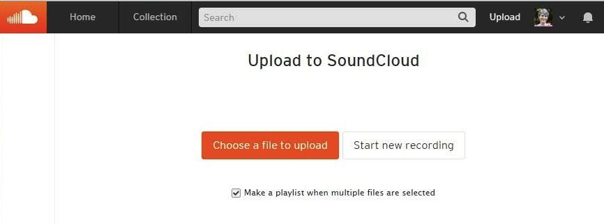 Upload to SoundCloud