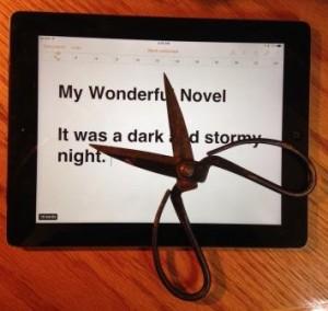 cutting up a manuscript