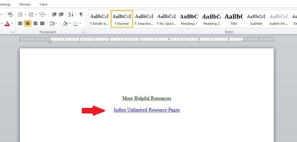 Format adding hyperlinks to ebooks 5