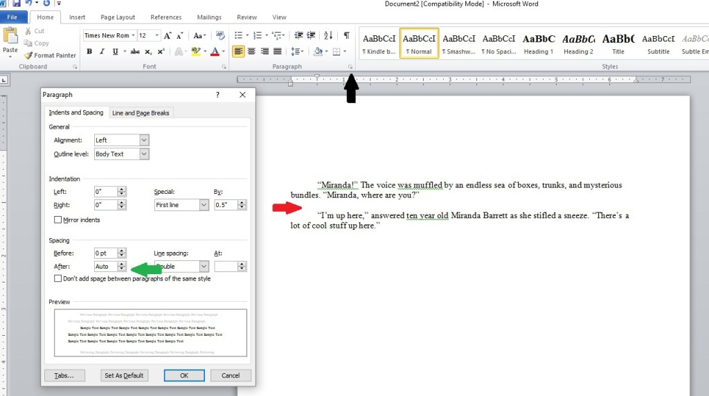 Format extra space in my manuscript 1