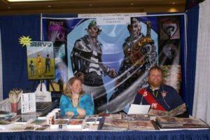 K. Rowe & illustrator Jason Sturgill at Comic Con
