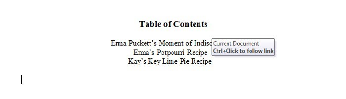 Word-10 table of contents