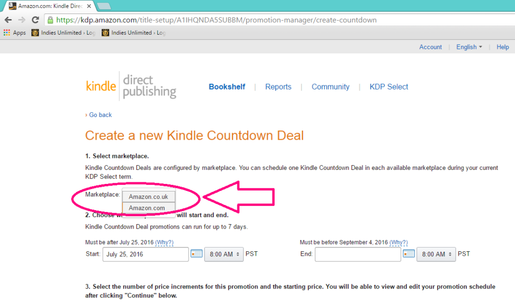 Kindle Countdown Deal UK or US