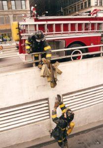 flash fiction writing prompt chicago 1996 firemen garage