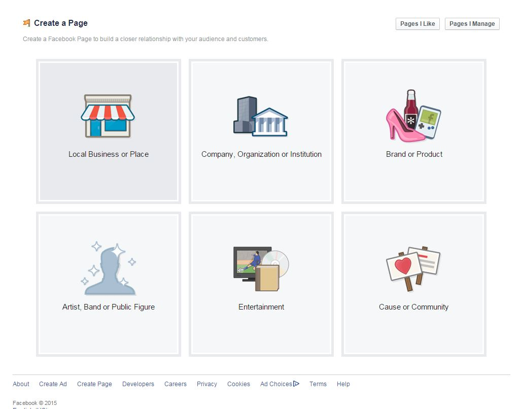 Facebook TypeofPage