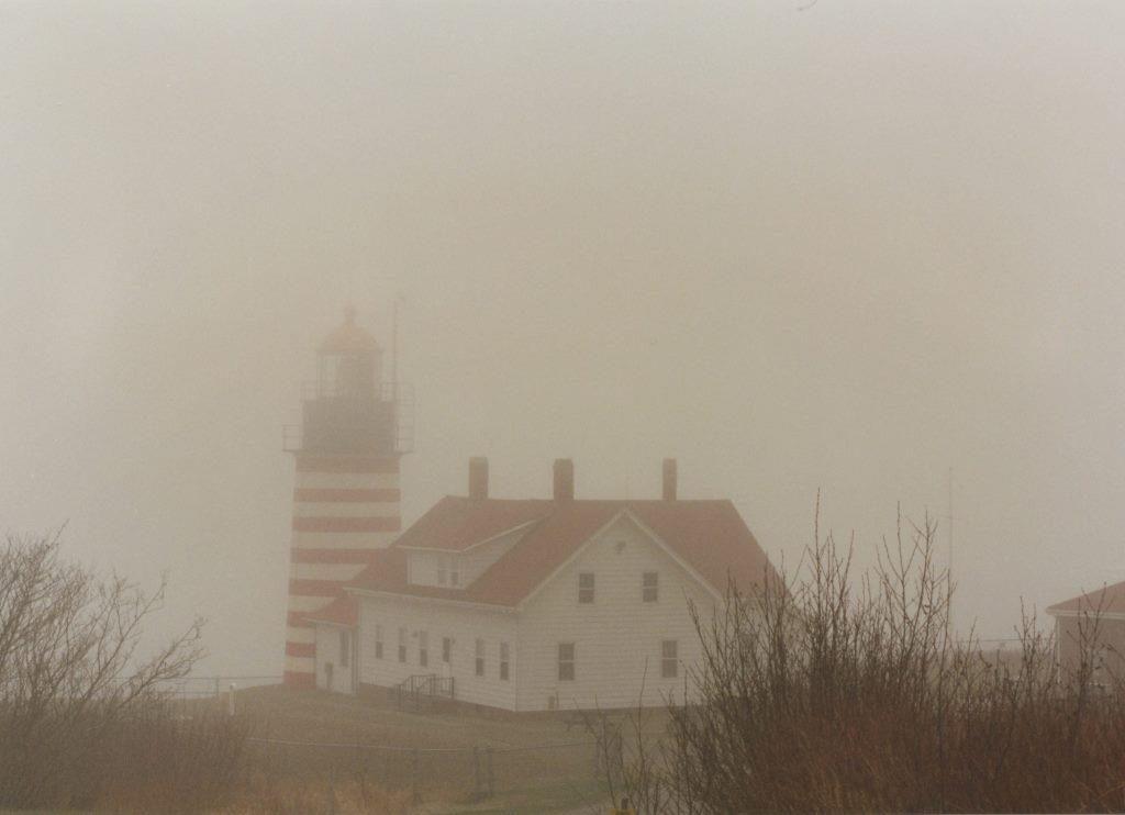 foggy quoddy light Maine 1996 flash fiction writing prompt copyright KS Brooks