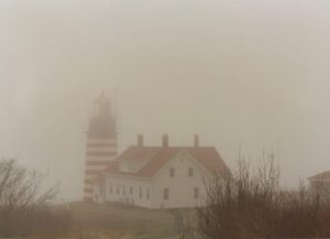 foggy quoddy light Maine 1996 flash fiction writing prompt copyright KS Brooks