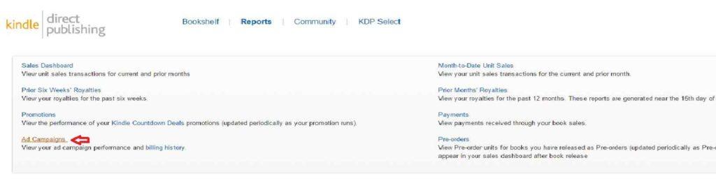Amazon KDP Reports-dashboard