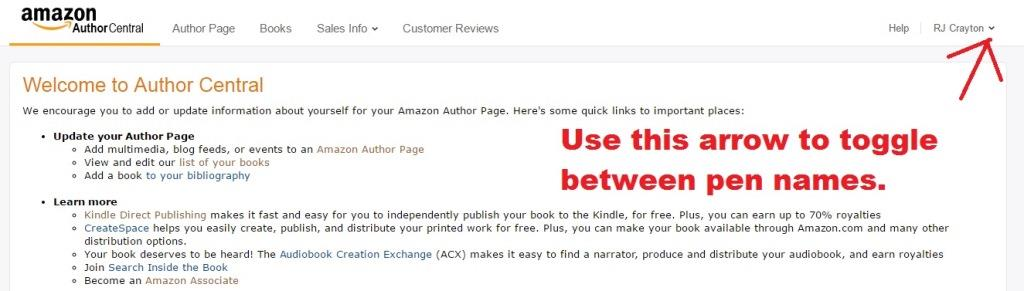 Amazon Author Central AC9_PenNames