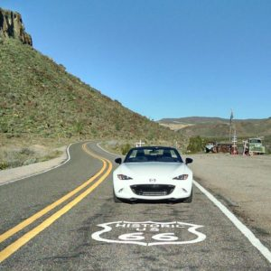 MX5 on Route 66