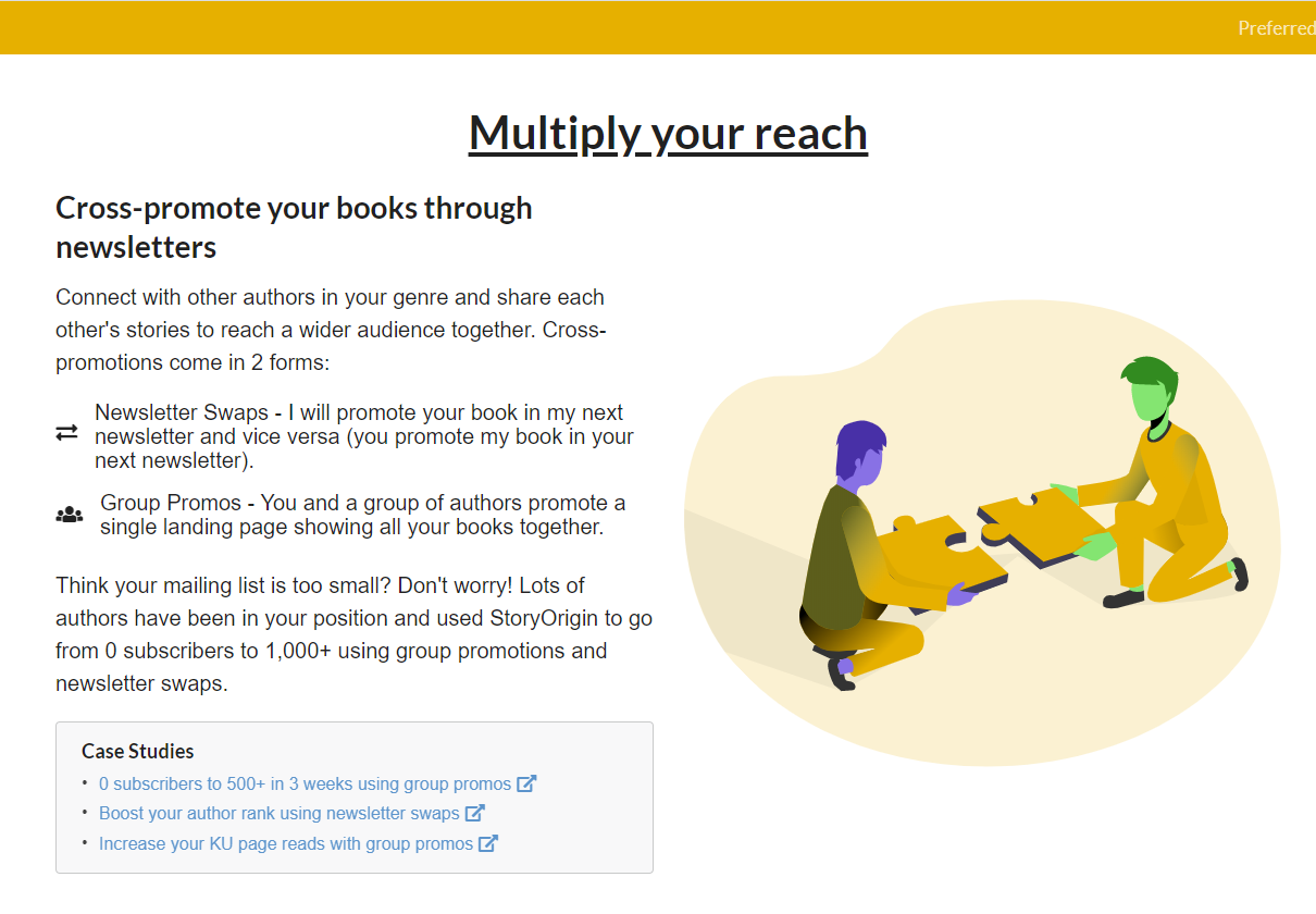 Cross promote books using newsletters