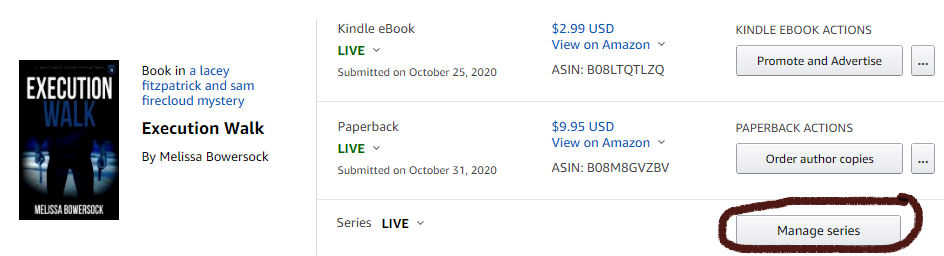How to manage a book series on Amazon