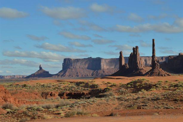 Totem Pole rock at Monument Valley flash fiction writing prompt copyright KS Brooks