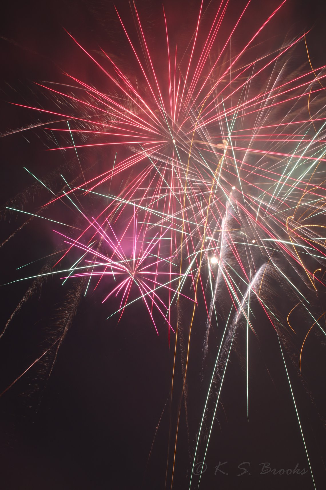 Fireworks copyright K.S. Brooks